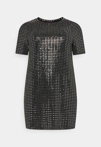 Pieces Curve - PCHAILA DRESS CURVE - Cocktail dress / Party dress - black/silver - 4