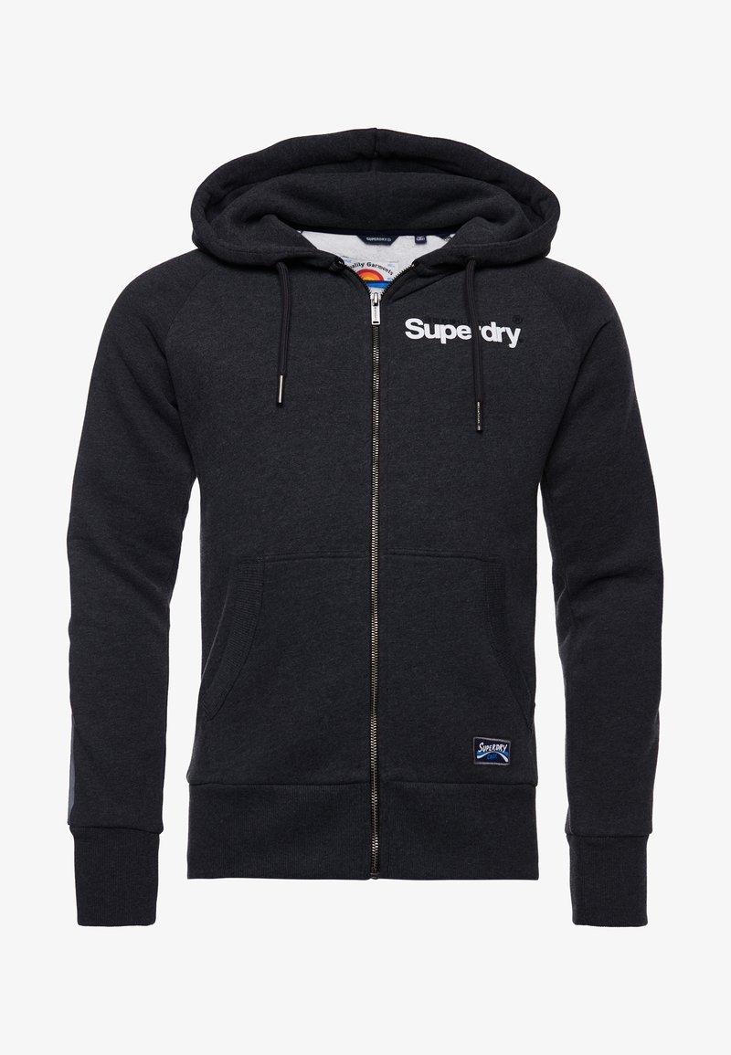Superdry - CORE LOGO CALI RAGLAN  - Zip-up hoodie - dark marl