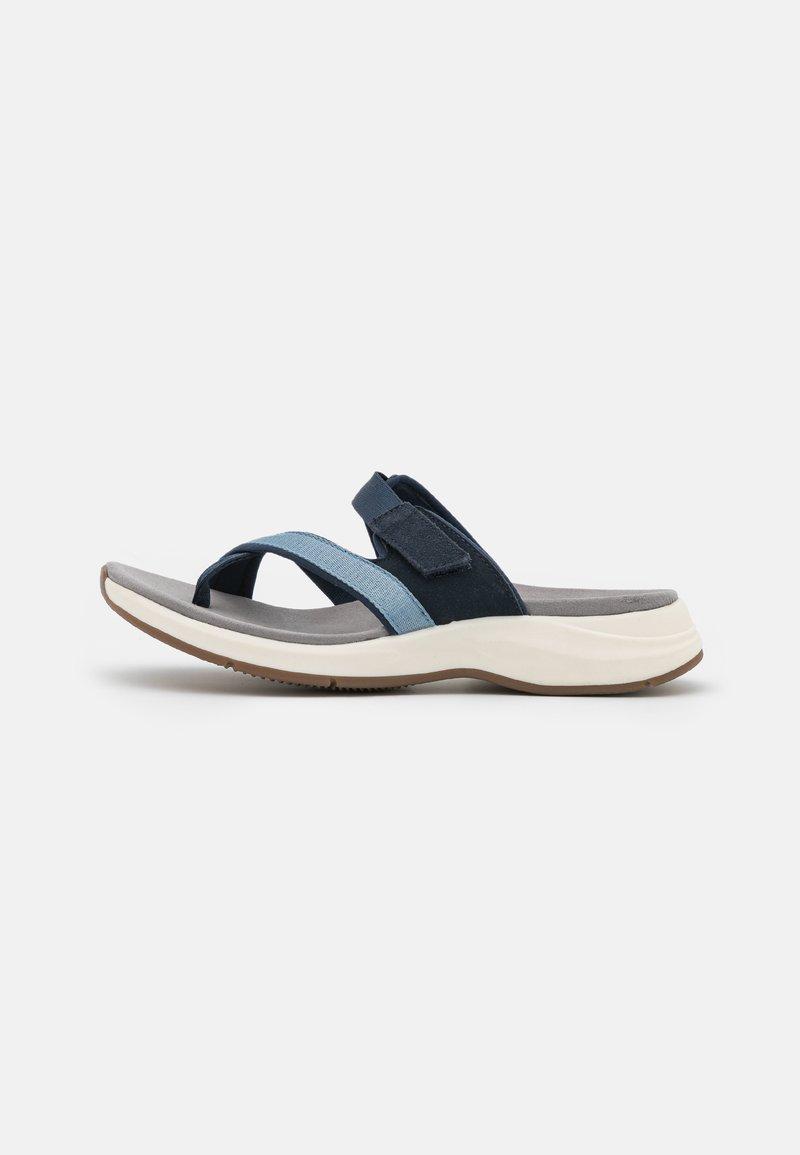 Clarks - SOLAN SURF - Sandalias de dedo - navy
