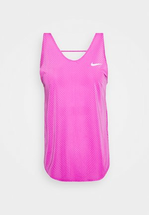 TANK BREATHE - Sports shirt - fire pink/reflective silver