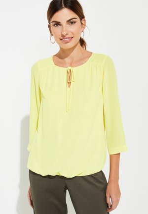 MIT ZIERSCHLEIFE - Blouse - yellow