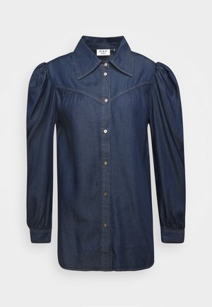 DAY PRETEND - Button-down blouse - indigo stone wash