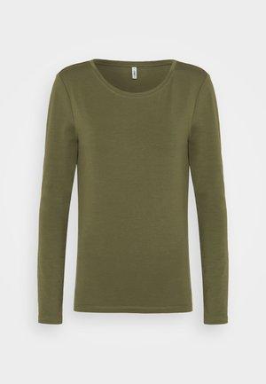 ONLFIFI LIFE O NECK - Langærmede T-shirts - kalamata