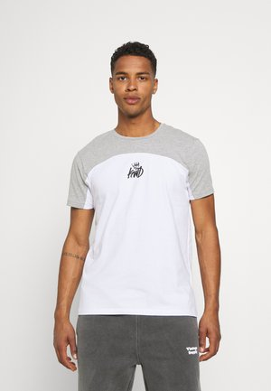 FRESWICK TEE - Print T-shirt - optic white/grey marl