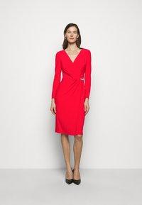 Lauren Ralph Lauren - CLASSIC DRESS - Jersey dress - lipstick red - 0