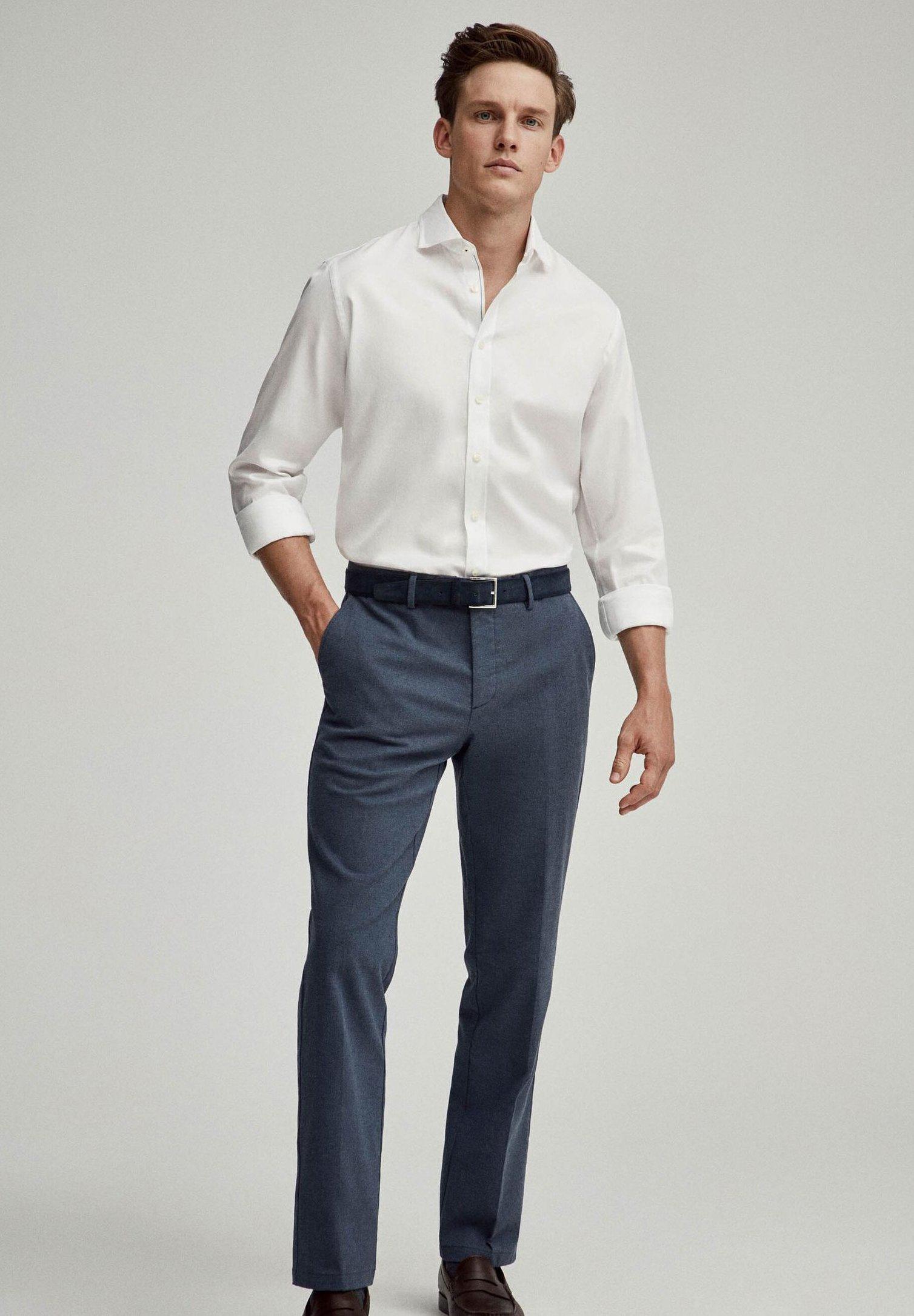 Hackett London Wht Trevi Engneerd Str - Shirt White