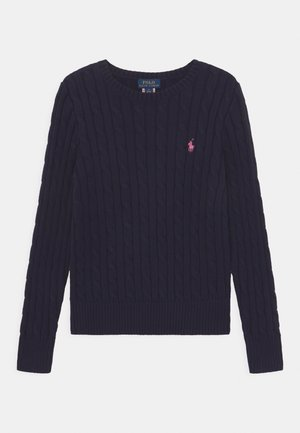 CABLE - Sweter - navy