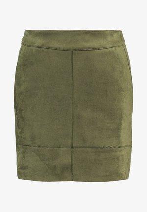 ONLJULIE BONDED  - Pencil skirt - grape leaf