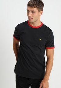 Lyle & Scott - RINGER - T-shirt - bas - true black - 0
