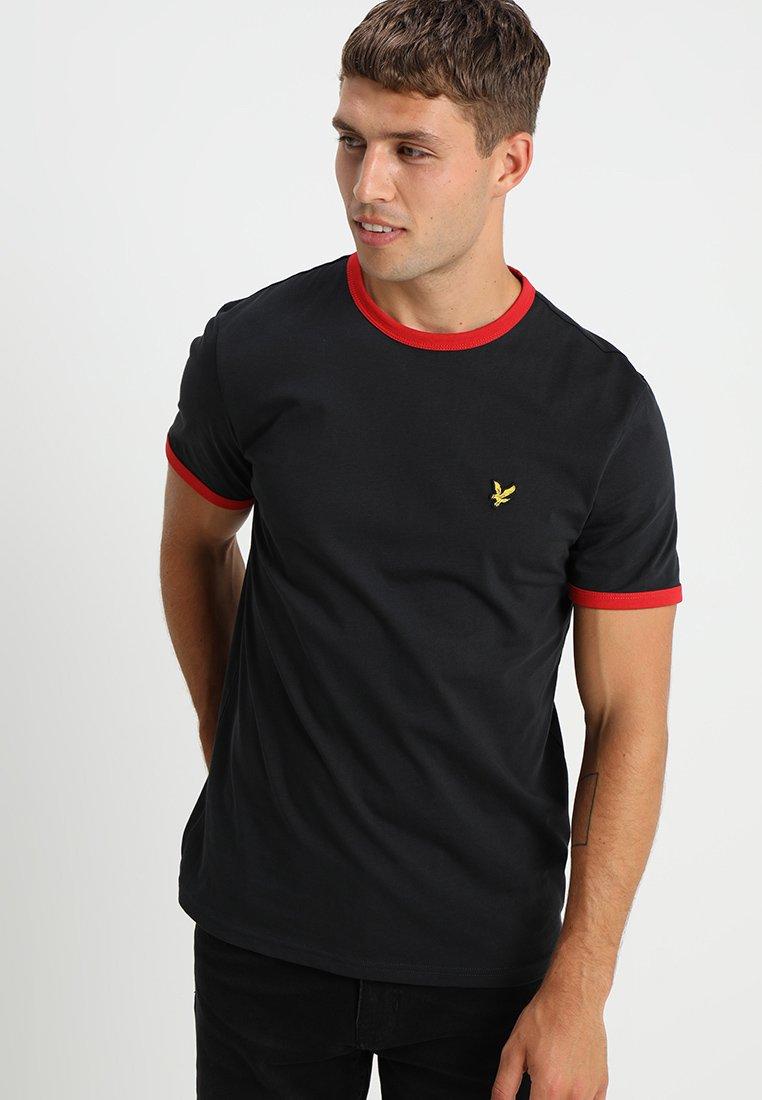 Lyle & Scott - RINGER - T-shirt - bas - true black