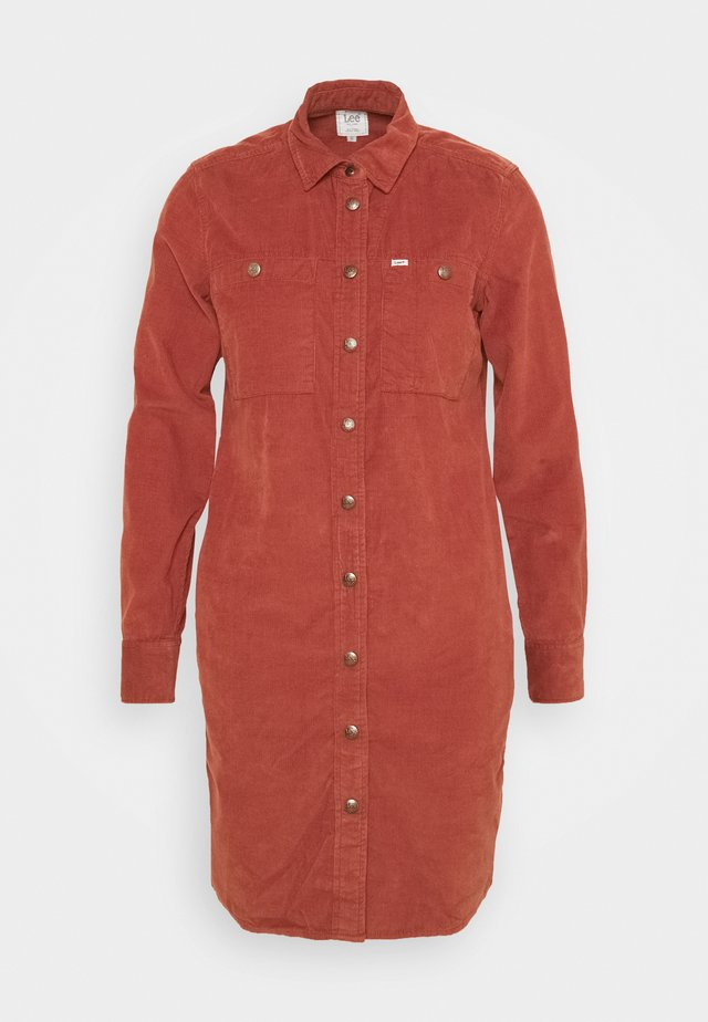 DRESS - Day dress - red ochre