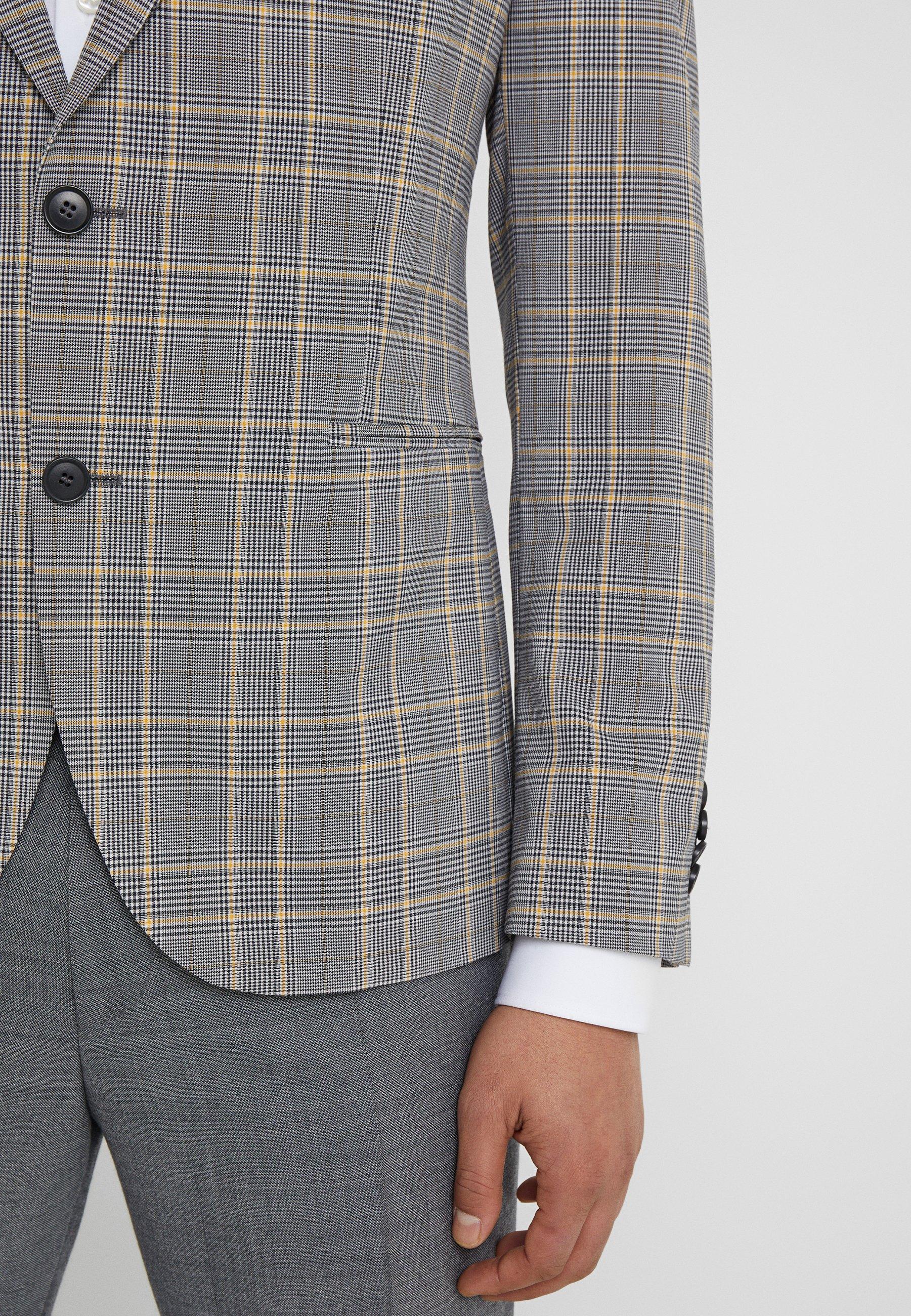 DRYKORN IRVING - Veste de costume - grey/yellow