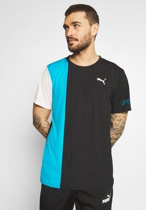EXCITE TEE - T-shirts print - black/hawaiian ocean