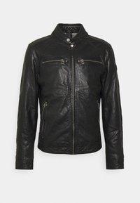 TAYSON - Leather jacket - black