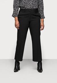 Selected Femme Curve - SLFRIGA WIDE PANT - Kangashousut - black - 0