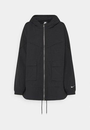Summer jacket - black/dark smoke grey