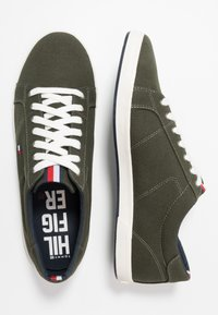 Tommy Hilfiger - ICONIC LONG LACE - Trainers - khaki - 1