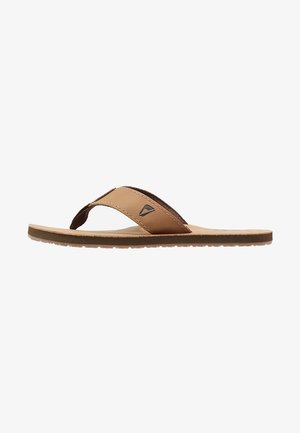 SMOOTHY - T-bar sandals - bronze brown