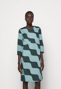 Marimekko - OLKOON TAIFUUNI DRESS - Day dress - turquoise/green - 0