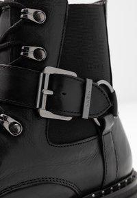 Mexx - DESNEY - Cowboy/biker ankle boot - black - 2