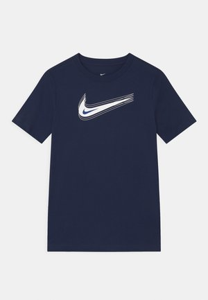 UNISEX - T-shirt print - midnight navy/white