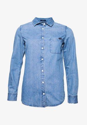 Button-down blouse - light indigo