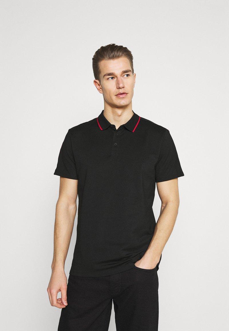 Guess - TAPE - Polo shirt - jet black
