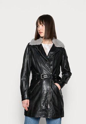 DARCY LATEV - Leren jas - black