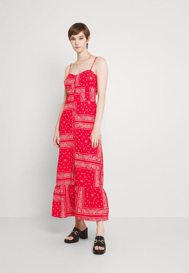 RED BANDANA DRESS - Maxi-jurk - red