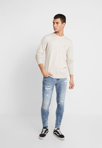 American Eagle - CREW - Pullover - oatmeal heather - 1