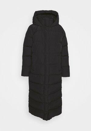 NIGELLA - Kabát zprachového peří - black