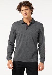 Pierre Cardin - GESTREIFT - Polo shirt - schwarz - 0