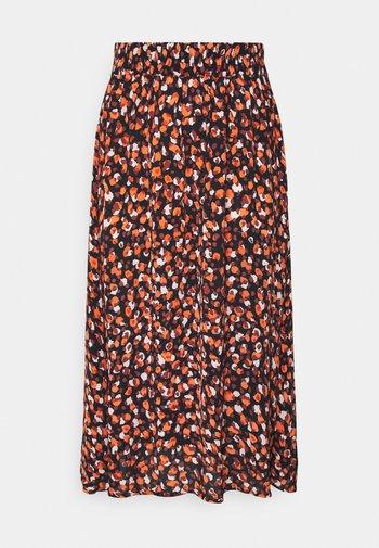 PCRAYA MIDI SKIRT - A-line skirt - black