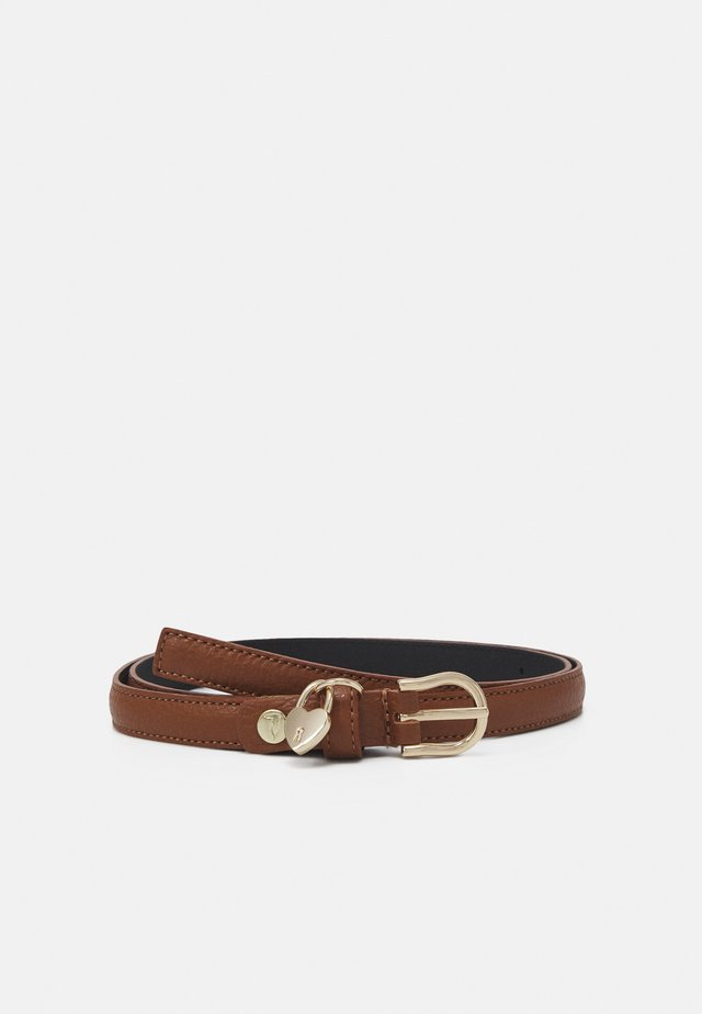 BELT FIBBIA TONDA GRANA CERVO - Belt - brown