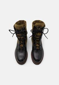 Belstaff - TROOPER BOOT - Šněrovací kotníkové boty - black - 3