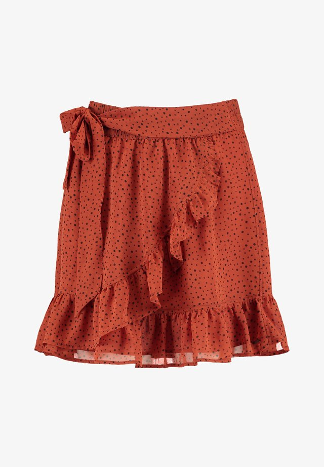 ANN - Wrap skirt - terra