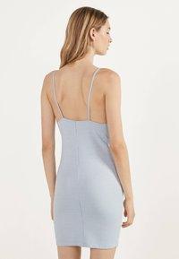 Bershka - MIT VICHYKAROS  - Day dress - light blue - 2