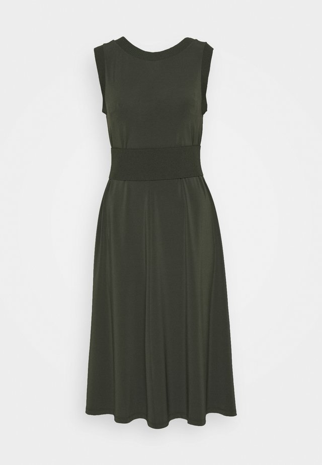 CREATIVO - Jersey dress - khaki green