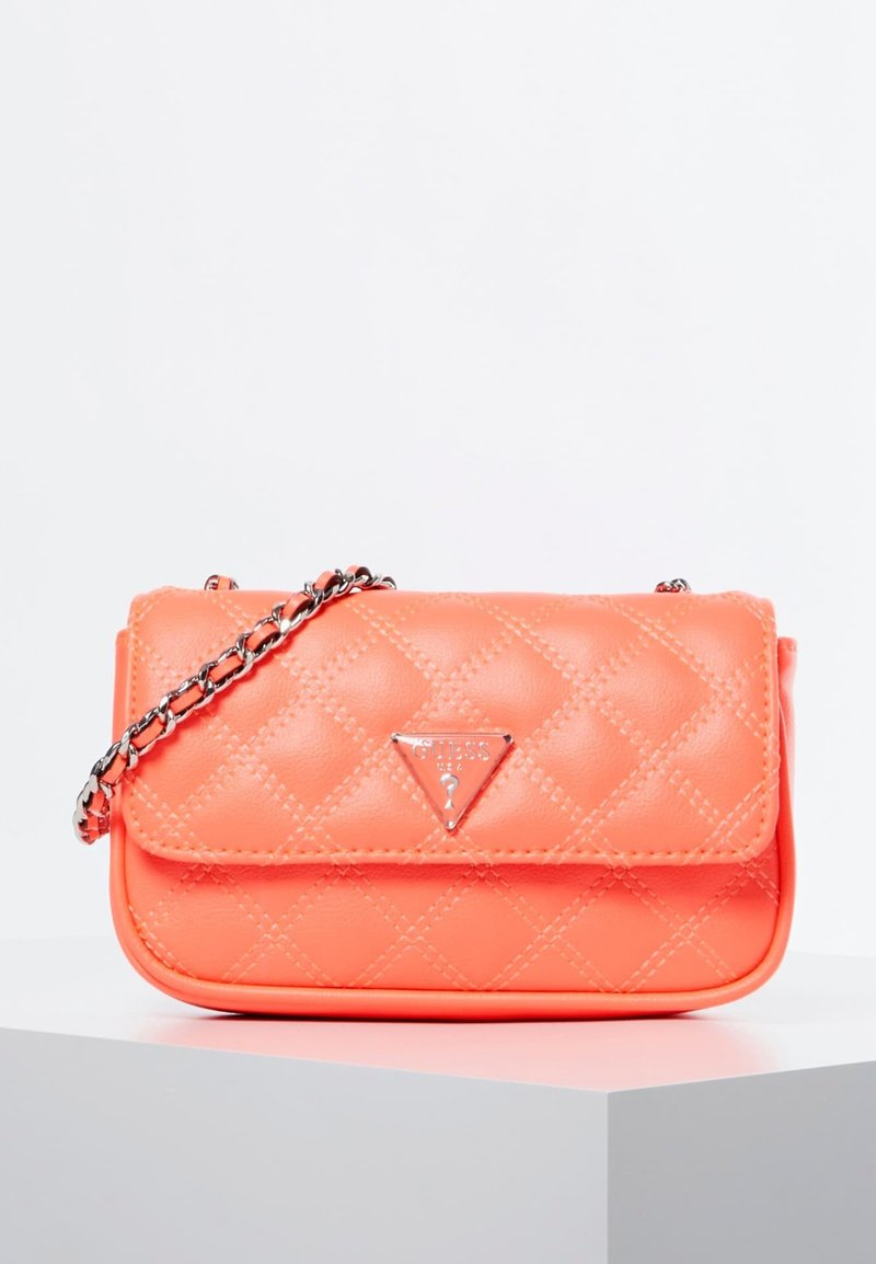 Guess - MICRO SAC À BANDOULIÈRE CESSILY - Across body bag - orange
