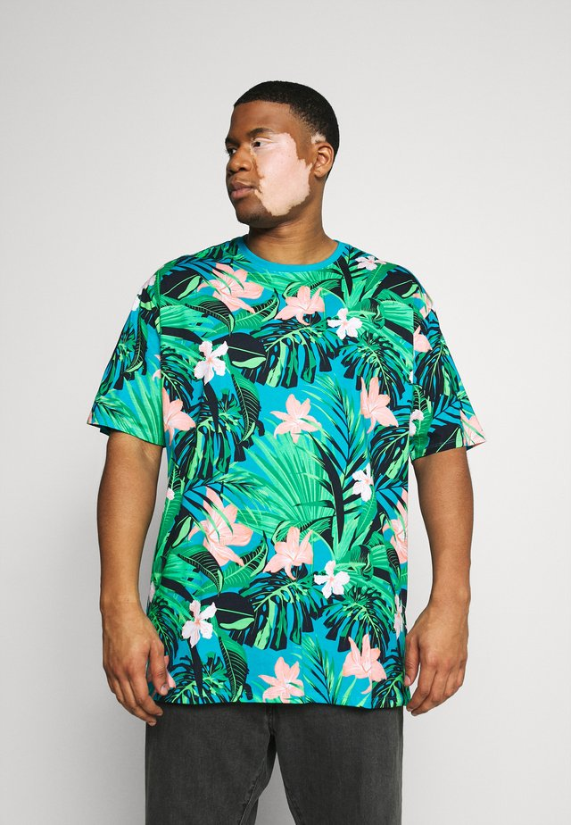 FLOWER TEE  - T-shirt print - türkis