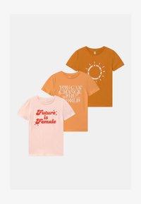 Cotton On - PENELOPE SHORT SLEEVE 3 PACK - T-shirt print - multi-coloured - 0
