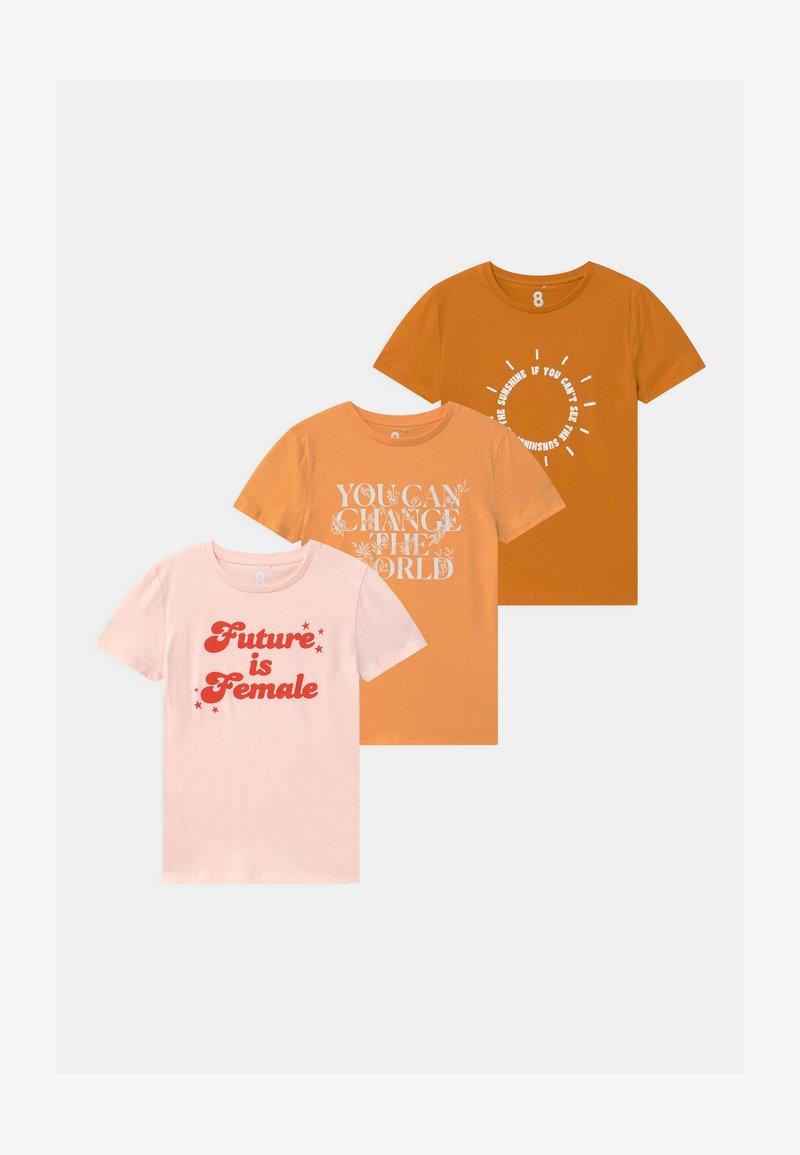 Cotton On - PENELOPE SHORT SLEEVE 3 PACK - T-shirt print - multi-coloured