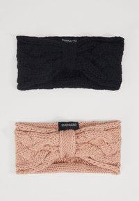 Even&Odd - 2 PACK - Ear warmers - rose/black - 0