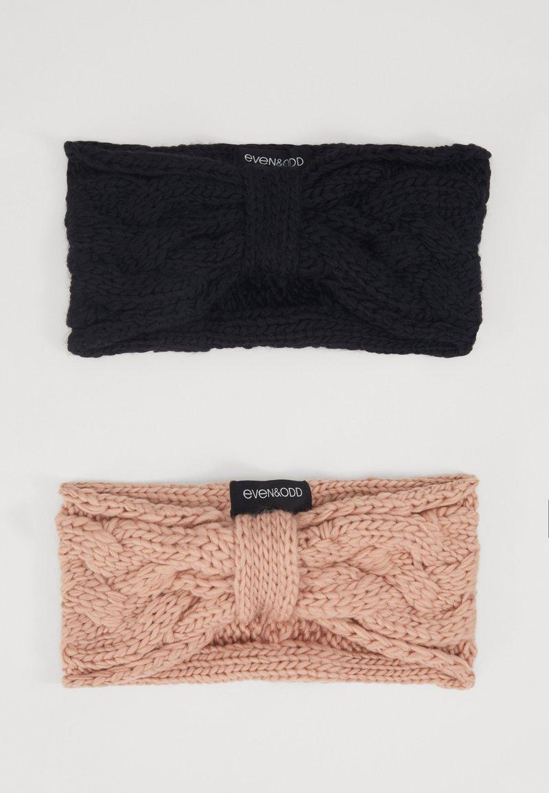 Even&Odd - 2 PACK - Ear warmers - rose/black