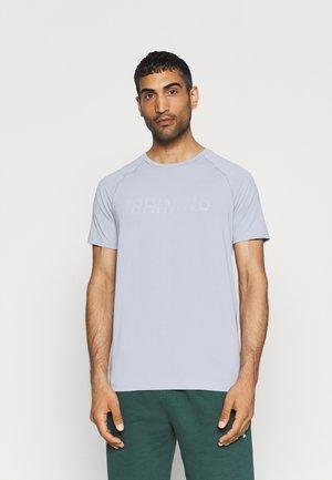 T-shirt print - cold light grey