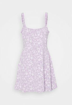 TURNER STRAPPY MINI DRESS - Jerseykjole - lilac