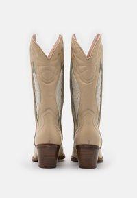 Bronx - JUKESON - Cowboy/Biker boots - camel/sage green - 3