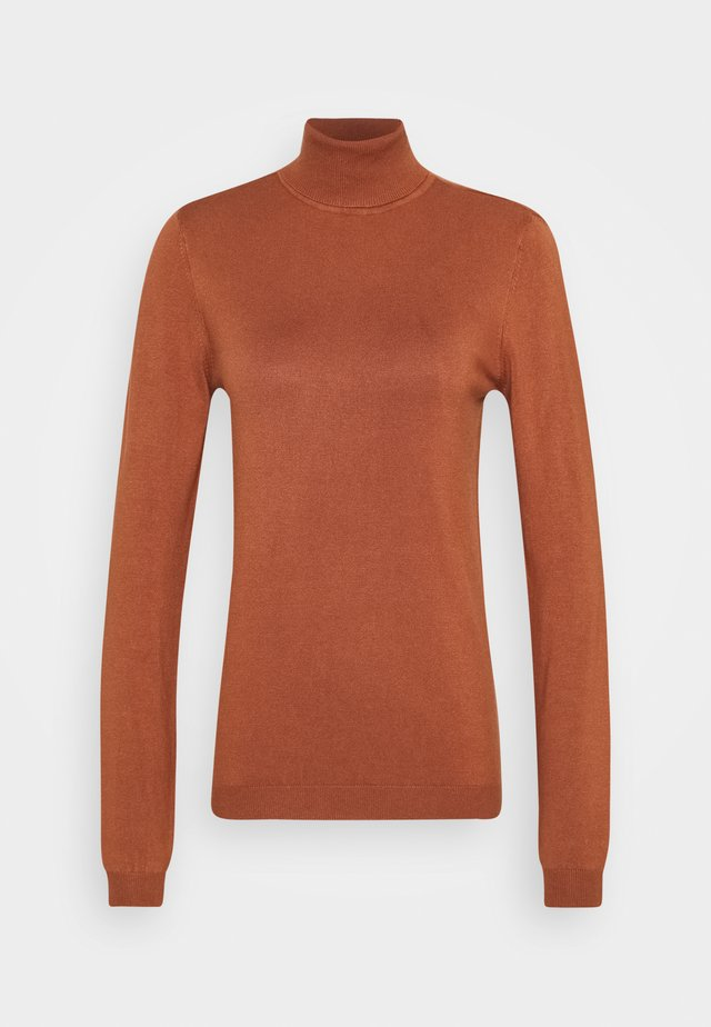 PCESERA ROLLNECK - Jumper - brown
