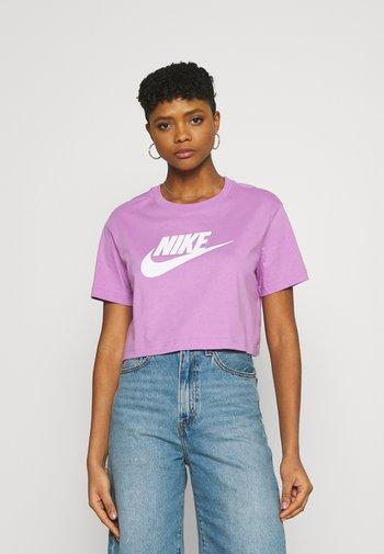 TEE - Camiseta estampada - violet shock/white