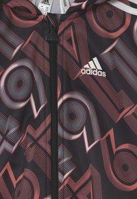 adidas Performance - SHINY SET UNISEX - Tracksuit - hazros/black/white - 3